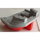 LEGO Boat Hull 16 x 22 with Medium Stone Gray Top (47986)