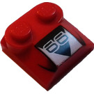 LEGO Bonnet 2 x 2 x 2/3 with '66' without Curved End (41855)