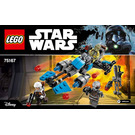 LEGO Bounty Hunter Speeder Bike Battle Pack Set 75167 Instructions