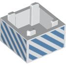 LEGO Box 2 x 2 Bottom with blue diagonal lines (38361 / 59121)