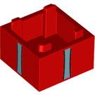 LEGO Box 2 x 2 Bottom with Blue vertical stripes (38366 / 59121)