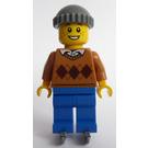 LEGO Boy in Argyle Sweater and Skates Minifigure