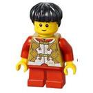 LEGO Boy in Dark Tan Patterned Shirt Minifigure