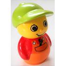 LEGO Boy Orange Base, Red Top, Wrench in Pocket Primo Figure