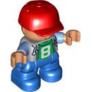 "LEGO Boy with ""8"" Top Duplo Figure"