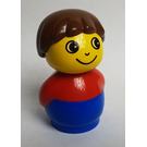 LEGO Boy with Blue Base and Red Top Primo Figure