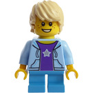 LEGO Boy with Bright Light Blue Hoodie Minifigure