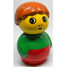 LEGO Boy with green top and red base Primo Figure