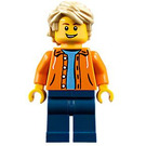 LEGO Boy with Orange Jacket Minifigure