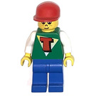 """LEGO Boy With """"T"""" on Shirt and red Cap Minifigure"""