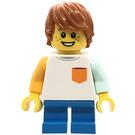 LEGO Boy with White Shirt and Pocket Minifigure