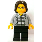 LEGO Brand Store Male, Jacket over Shirt with Buttons and Dark Bluish Gray Prison Stripes Pattern {Leeds} Minifigure