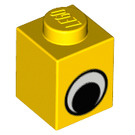 LEGO Brick 1 x 1 with Eye without Spot on Pupil (82357 / 82840)