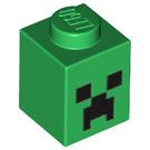 LEGO Brick 1 x 1 with Minecraft Creeper Face Pattern (12940)