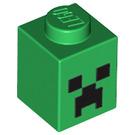 LEGO Brick 1 x 1 with Minecraft Creeper Face Pattern (3005 / 12940)