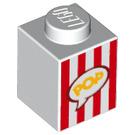 LEGO Brick 1 x 1 with 'POP' in speech bubble (3005 / 33466)