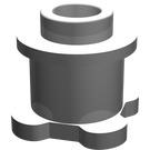 LEGO Brick 1 x 1 x 2/3 Round with Scala Base (33286)