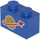LEGO Brick 1 x 2 with Classic Space Logo (3004)
