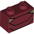 LEGO Brick 1 x 2 with iron man torso (3004 / 38573)