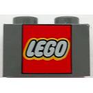 LEGO Brick 1 x 2 with LEGO Logo (3004)