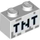 LEGO Brick 1 x 2 with Minecraft 'TNT' Decoration (3004 / 19180)