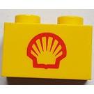 LEGO Brick 1 x 2 with Shell Logo (Small) (3004)