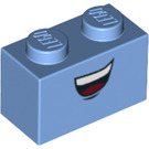 LEGO Brick 1 x 2 with smile with top teeth (3004 / 94872)