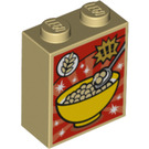 LEGO Brick 1 x 2 x 2 with Cereal Box Decoration with Inside Stud Holder (3245 / 20315)