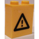 LEGO Brick 1 x 2 x 2 with Warning Sign Sticker (3245)
