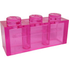 LEGO Brick 1 x 3 with Horizontal Frosted Line