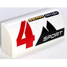LEGO Brick 1 x 4 with Curved Top with 4 GEAR SPORT left Sticker (6191)