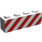 LEGO Brick 1 x 4 with Danger Stripes (3010)
