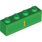 LEGO Brick 1 x 4 with Decoration (90841)