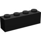 LEGO Brick 1 x 4 with Legoland-Logo Black (3010)