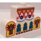 LEGO Brick 1 x 4 x 2 with Centre Stud Top with Himalayan Arches and Figures (4088)