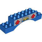 LEGO Brick 2 x 10 x 2 Arch with Red 'Up' Arrows and Car Wash (51704 / 95700)