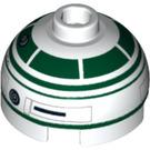LEGO Brique 2 x 2 Rond avec Dome Haut avec Décoration (Goujon creux avec support d'axe inférieur x forme + orientation) (16707 / 30367)