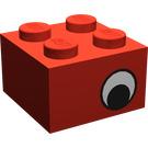 LEGO Brick 2 x 2 with Black and White Eye on Both Sides (81910)