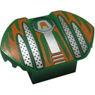 LEGO Brick 2 x 2 with Sloping Top and Curved Wings with Orange and Silver Pattern