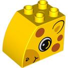 LEGO Brick 2 x 3 x 2 with Curved Side with Giraffe Head (11344 / 15987)