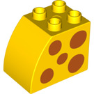 LEGO Brick 2 x 3 x 2 with Curved Side with Orange Spots (11344 / 15991)
