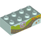 LEGO Brick 2 x 4 with Highway and Peace Logo (3001 / 96119)