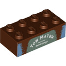"""LEGO Brick 2 x 4 with """"TOW MATER"""" (3001 / 94857)"""