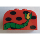 LEGO Brick 2 x 4 x 2 with Curved Top with black spots and monster tail (4744)