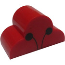 LEGO Brick 2 x 4 x 2 with Curved Top  with Decoration (6216)