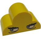 LEGO Brick 2 x 4 x 2 with Curved Top with Eyes Decoration (6216)