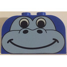 LEGO Brick 2 x 4 x 2 with Curved Top with monkey face decoration (4744)