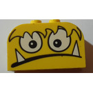 LEGO Brick 2 x 4 x 2 with Curved Top with Monster Face (spiked teeth) (4744)