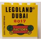 LEGO Brick 2 x 4 x 3 with LEGOLAND DUBAI 2017 Factory Pattern