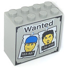 LEGO Brick 2 x 4 x 3 with Wanted and Heads and 163-A87 and 139-A56 Pattern (30144)